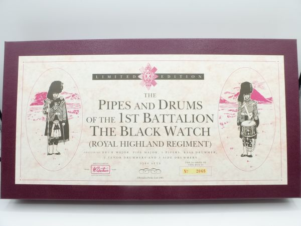 """Britains Metall Limited Edition Collectors Model """"The Pipes & Drums"""""""