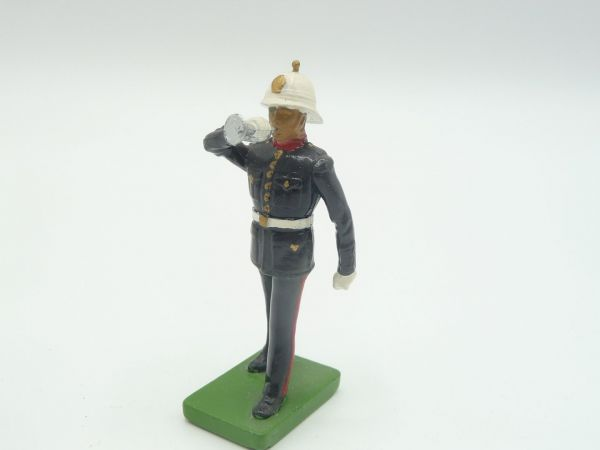 Britains Deetail (Metal) Music Corps, soldier with trumpet