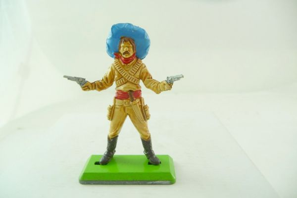 Britains Deetail Mexican, firing with 2 pistols, light-beige - rare colouring