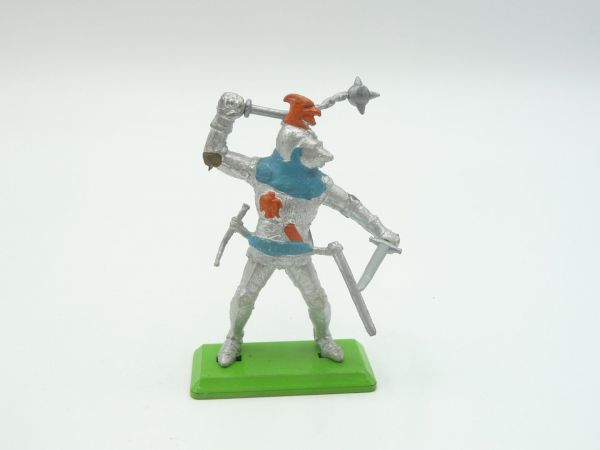 Britains Deetail Knight 2nd version standing with flail + sword