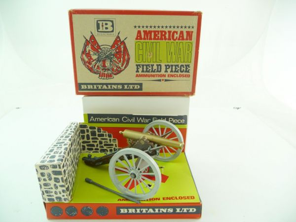 Britains American Civil War Field Gun, Nr. 9726 - in toller Altpackung