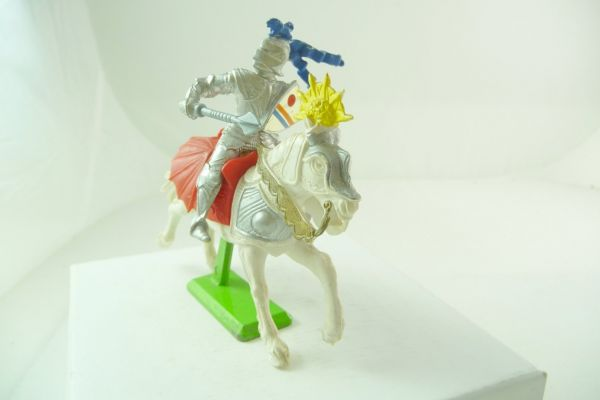 Britains Deetail Knight riding with mace + shield