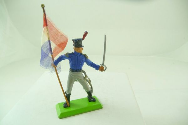 Britains Deetail French with flag + sabre - flag / pennant great DIY