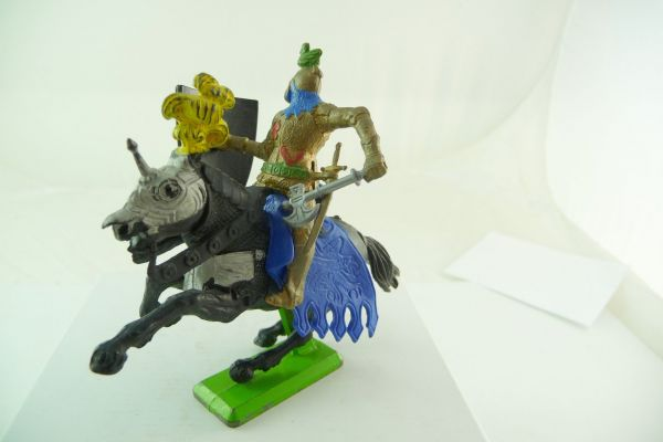 Britains Deetail Knight riding with shield + battleaxe
