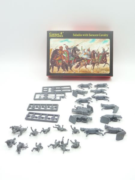 Caesar Miniatures 1:72 Saladir with Saracens Cavalry History 018 - OVP, Figuren komplett (24)