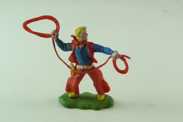 Britains / Herald Cowboy standing with lasso (rare colour)