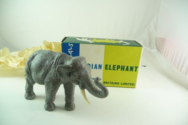 Britains Indian Elephant, No. 1311 - figure unused, orig. packing in old box