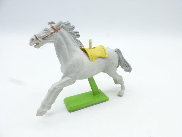 Britains Deetail White horse long-running, white/grey (yellow blanket) - rare