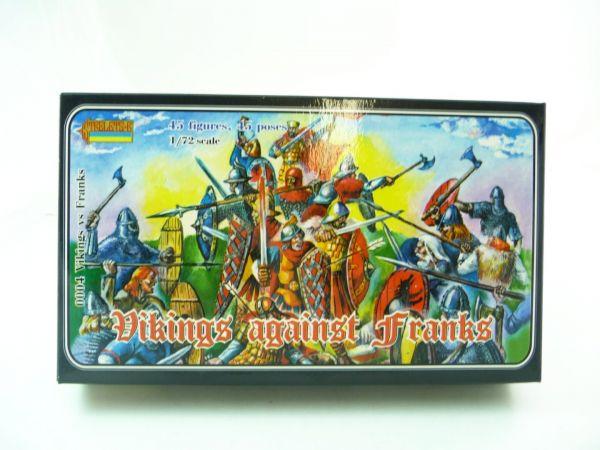 Strelets*R 1:72 Vikings against Franks, Nr. 0004 - OVP, Figuren am Guss, Box Top