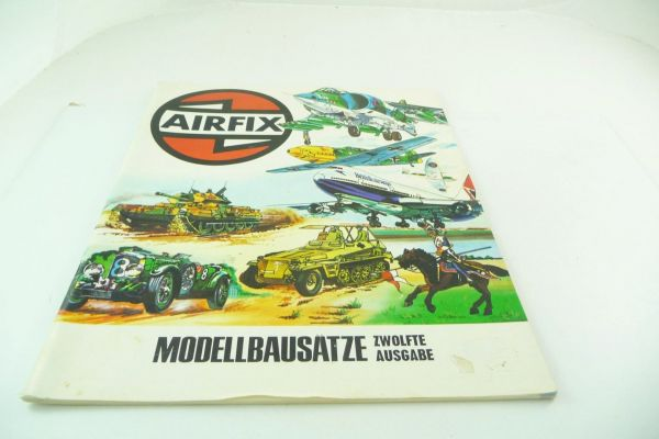 "Airfix Catalogue ""Modellbausätze"" 12. edition, 1975, 64 colourful illustrated pages"