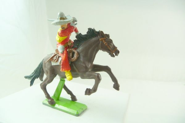 Britains Deetail Mexican riding, striking with sabre at side - nice colour variation