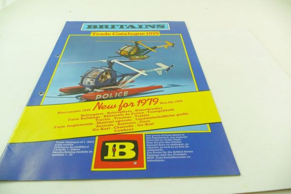 Britains Big retailer catalogue 1979, 23-page colourful illustrated catalogue