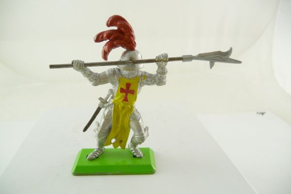 Britains Deetail Knight standing, jabbing with spear