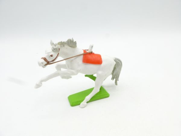 Britains Deetail Horse rearing, white (red blanket)
