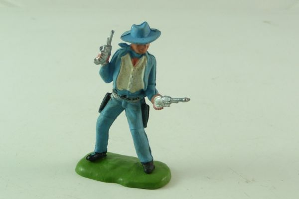 Britains / Herald Cowboy 2 Pistolen wild schießend - seltene Farbe