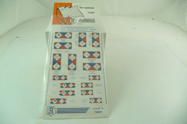 Almarks Self adhesive flags for 20 mm French, Napol. Guard Regiment