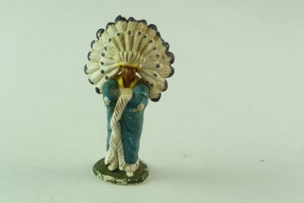 Britains / Herald Indian Chief standing with cape (used)