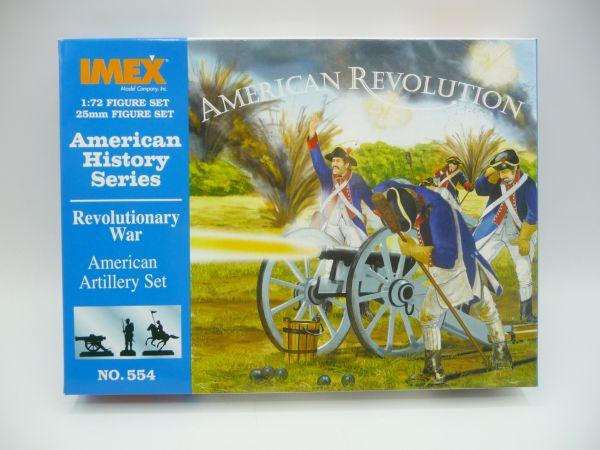 IMEX 1:72 American History Series; Revolutionary War, American Artillery Set, Nr. 554