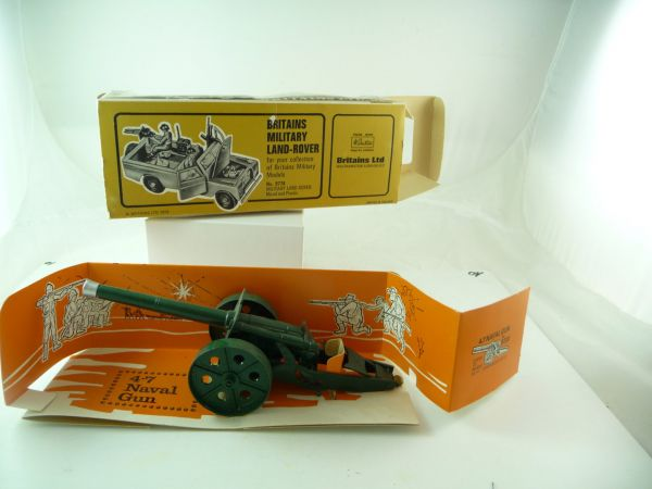Britains 4.7 Naval Gun, No. 9730 - orig. packing, cannon brand new