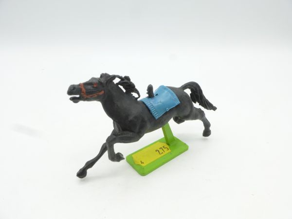 Britains Deetail Horse galloping, black (blue blanket)