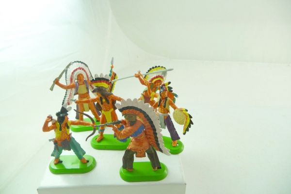 Britains Deetail Satz Indianer stehend (6 Figuren) (made in China)