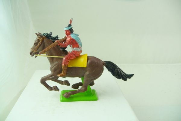 Britains Deetail Apache zu Pferd, Gewehr seitlich schießend - Top-Figur
