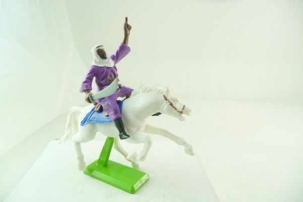 Britains Deetail Arab riding, sabre sideways - rare horse
