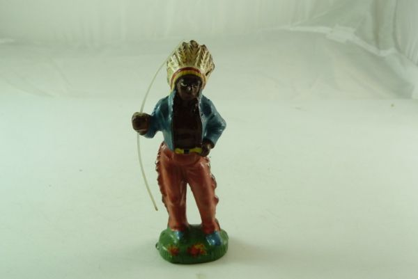 Beck Indian Chief standing with spear - good condition with traces of usage