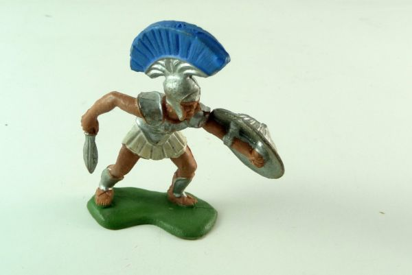 Britains Herald Trojan Warriors defending with sword and shield