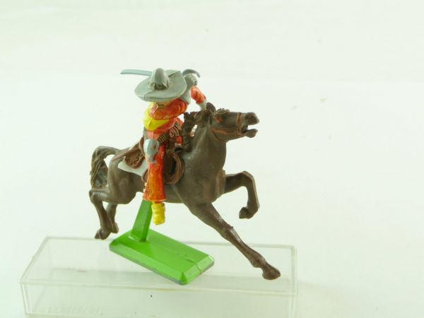 Britains Deetail Mexican riding, red/yellow/grey - rare colour combination