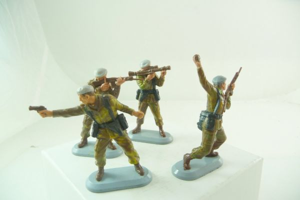 Britains Deetail Set of SAS soldiers (air force No. 6330), 4 positions, see photos