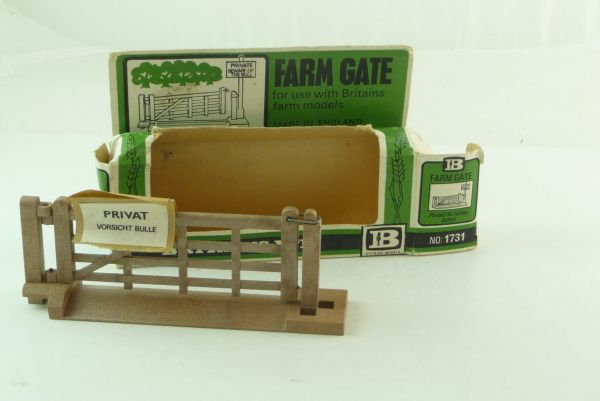 Britains Gate, No. 1731, incl. rare sticker - orig. packing