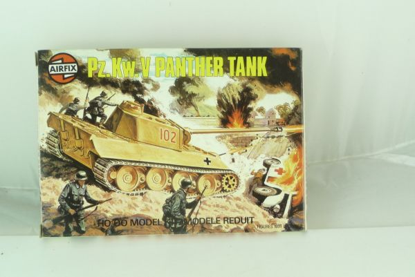 Airfix 1:72 Pz. KwV Panther Tank (H0) Series 1, No. 61302-8 - orig. packing