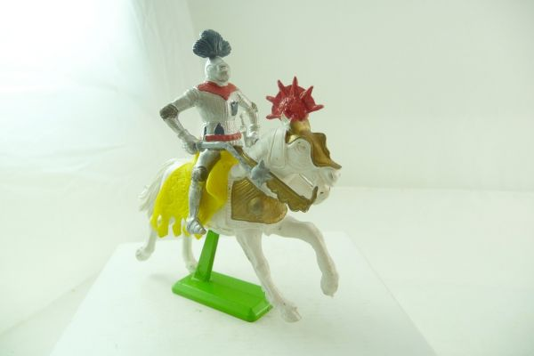 Britains Deetail Knight riding with flail + sword, two-part
