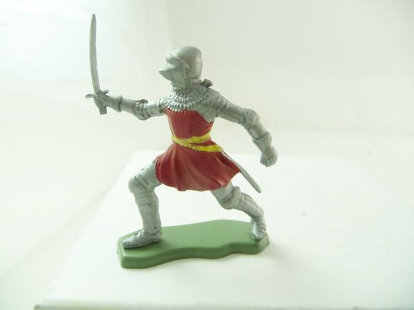 Britains Deetail Knight going ahead with sword, red/silver