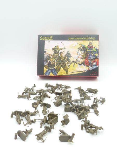 Caesar Miniatures 1:72 Japan Samurai with Ninja History 003 - OVP, Figuren komplett (40)