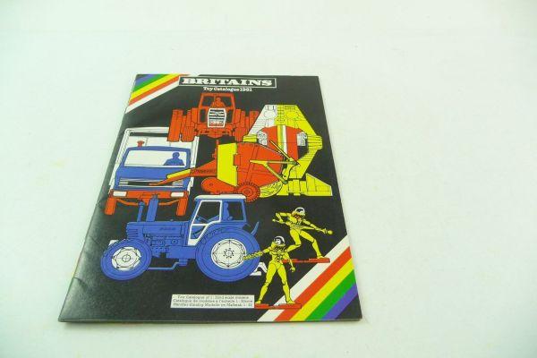 Britains Katalog 1981, 23-seitiger bunt bebilderter Katalog - sehr guter Zustand