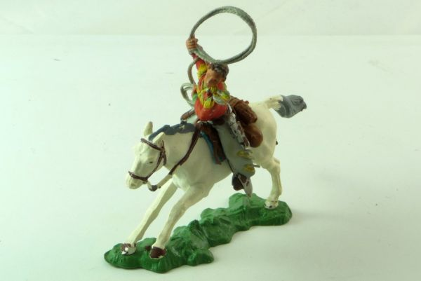 Britains Cowboy mounted with lasso - good condition, see photos