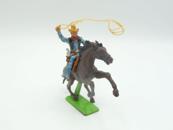 Britains Deetail Cowboy riding with lasso