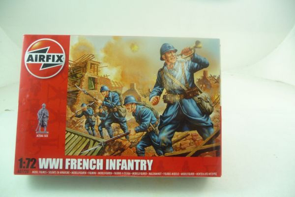 Airfix 1:72 WW I French Infantry, No. 1728 - orig. packaging, top condition, box sealed