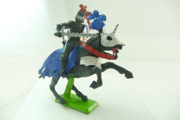 Britains Deetail Schwarzer Ritter zu Pferd mit Schwert