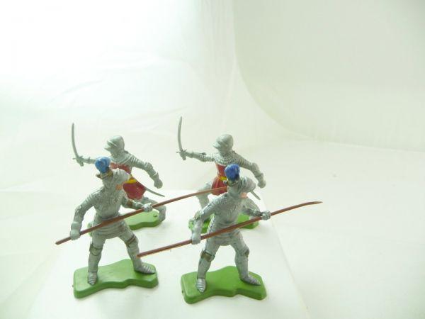 Britains Deetail 4 Ritter mit Schwert / Lanze