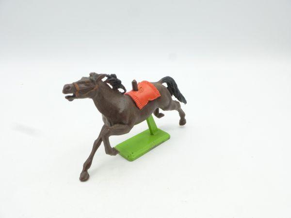Britains Deetail Horse galloping, brown (red blanket)