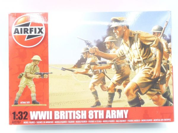 Airfix 1:32 WW II British 8th Army, No. A02707 - orig. packaging, box sealed