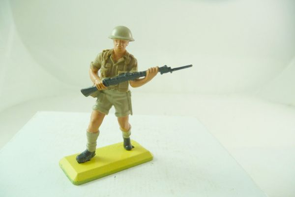 Britains Deetail English 8th Army; soldier with rifle in front of his body