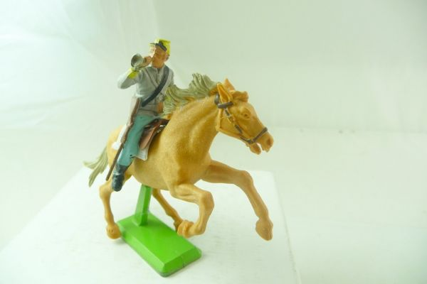 Britains Deetail Confederate Army soldier riding with trumpet
