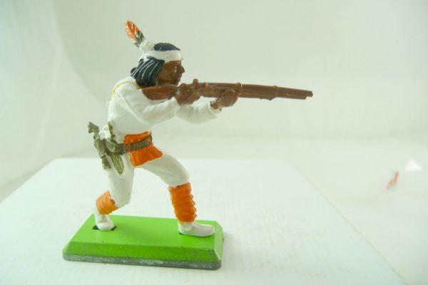 Britains Deetail Apache standing firing, white with orange
