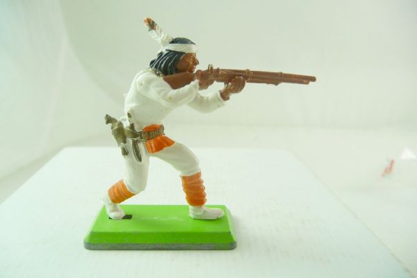 Britains Deetail Apache standing firing, white with orange