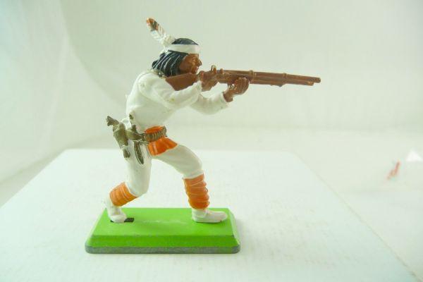 Britains Deetail Apache stehend schießend, weiß mit orange