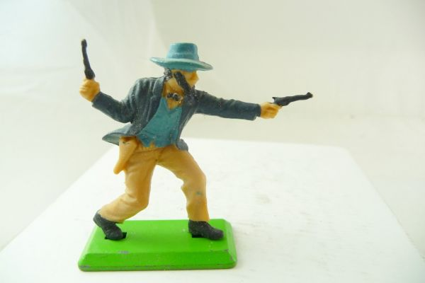 Britains Deetail Cowboy standing, firing wild with 2 pistols